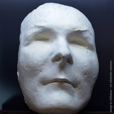 death mask of General Charente