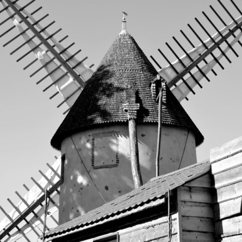 windmill in pouzauges in the vendee
