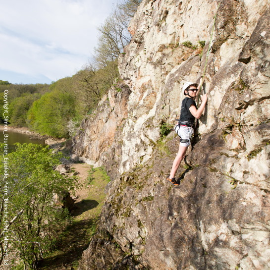 Pierre Blanche rock climbing Mervent