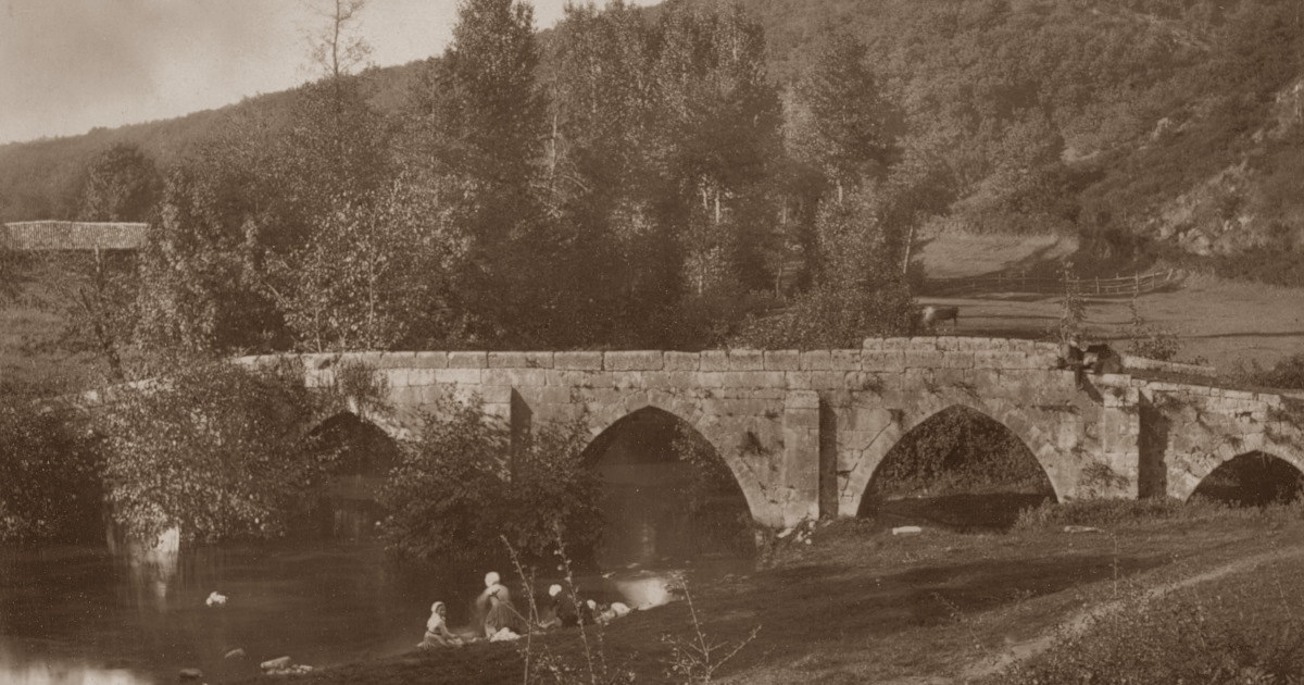 Vieux pont des Ouillères in the Mervent Forest