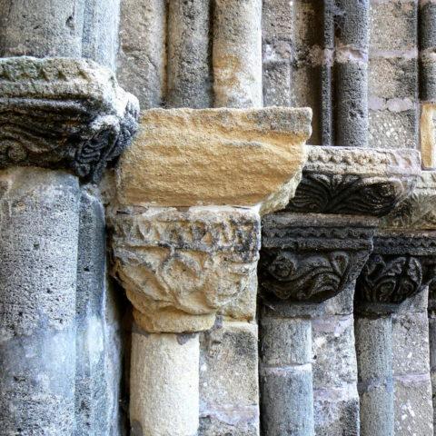 Abbey of Ile de Chauvet columns in the Vendee