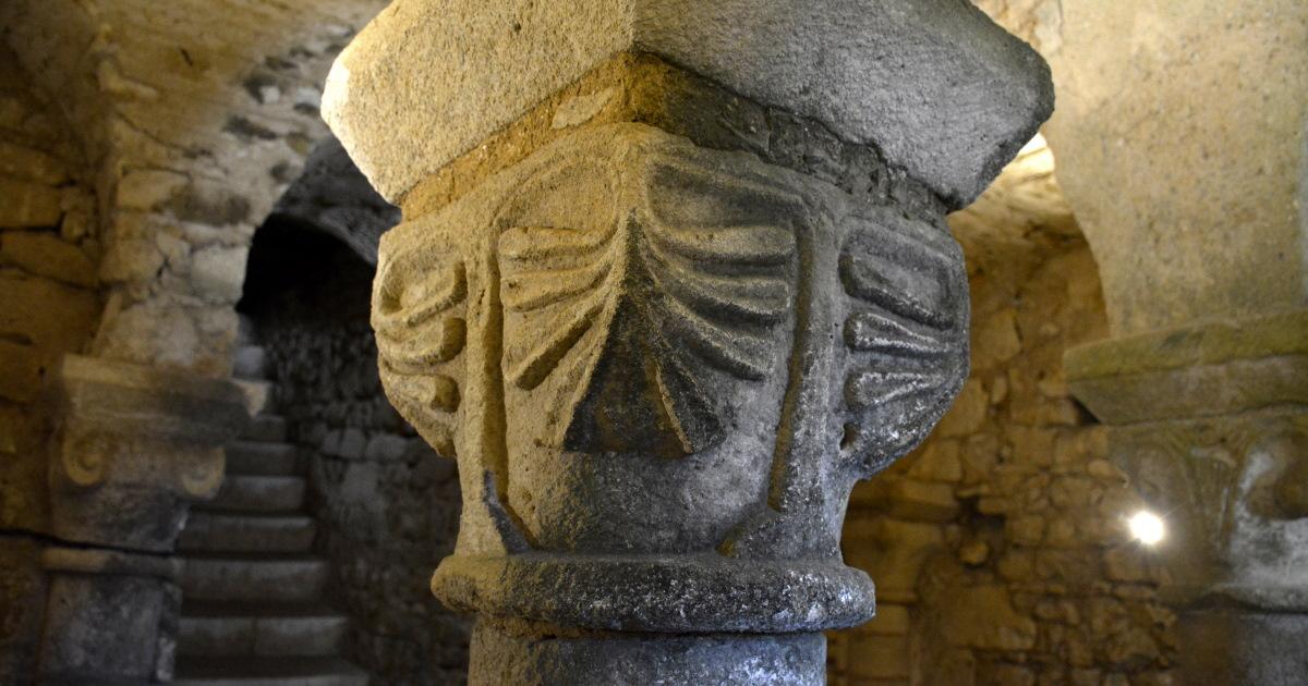 Roman Columns in Curzon Crypte Vendee