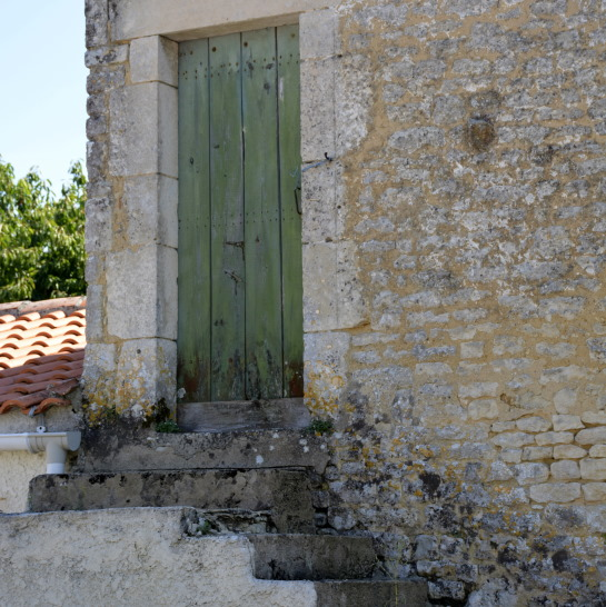 Door in La Claye village Vendee