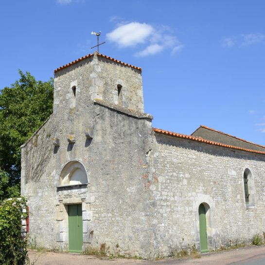 church in La Claye village Vendee