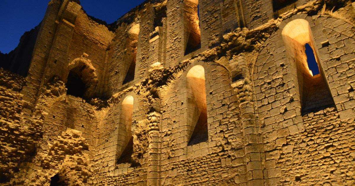 Abbaye de Maillezais Abbey by night