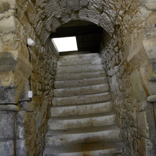 stairs to the crypte of Curzon in the Vendee