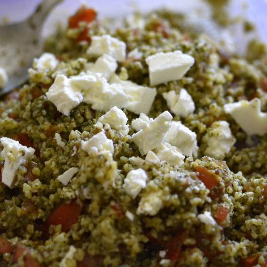 tabouleh and feta salad