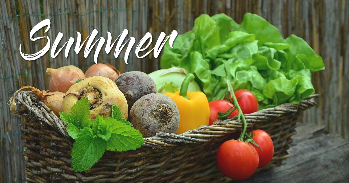 summer fruits and vegetables in france