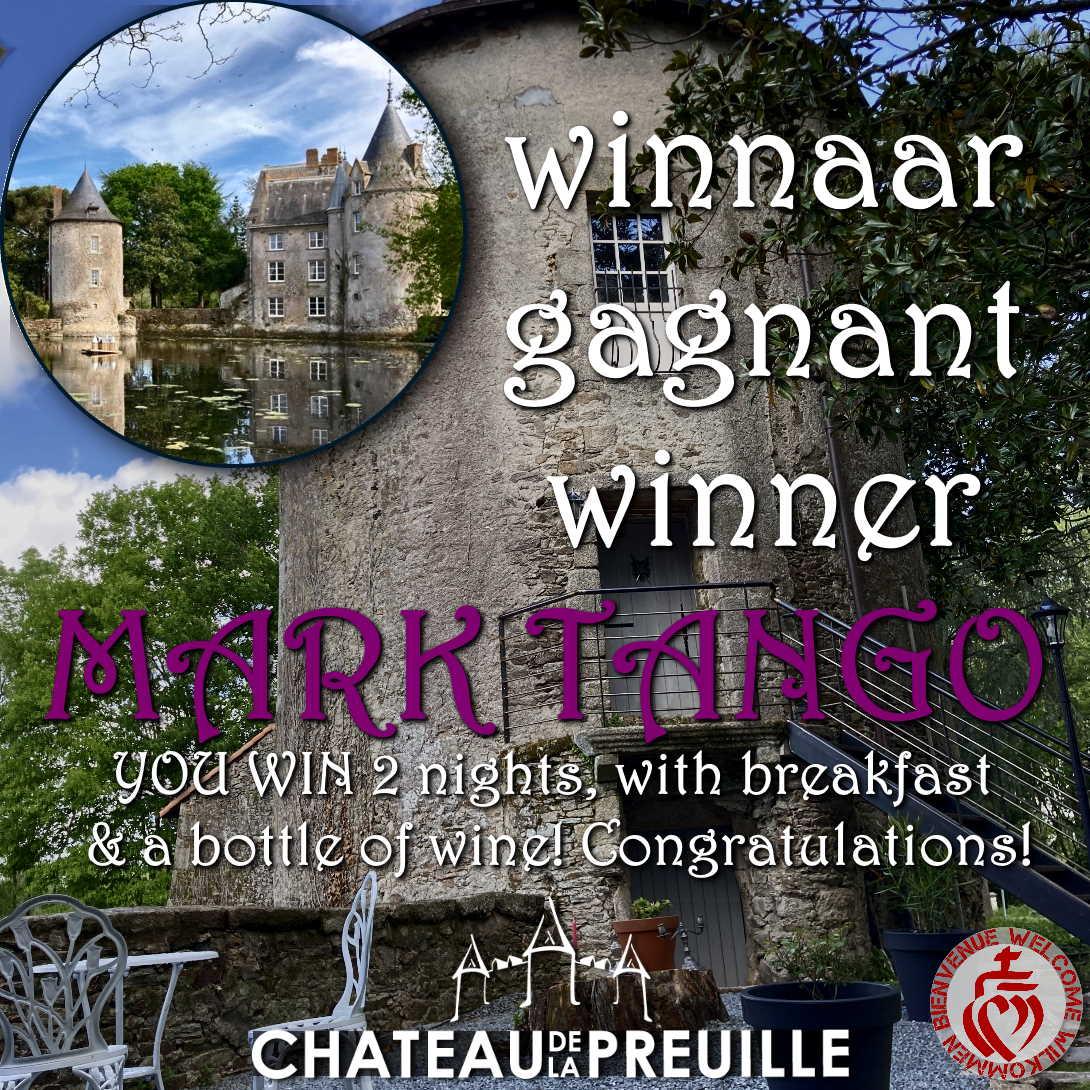 winner chateau de la preuille and inthevendee.com romantic weekend giveaway