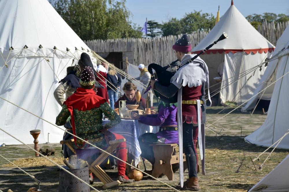 chateau de Tiffauges in the Vendee medieval festival annual