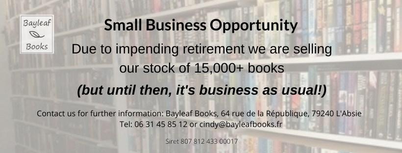 bookshop stock for sale - business opportunity deux-sevres, vendee, poitou-charantes